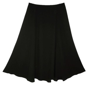 Eileen Fisher Silk A-line Black Skirt