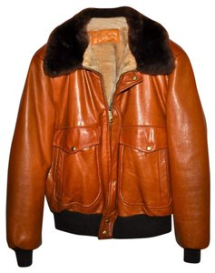 William Barry Leather Bomber Mens Vintage Sherpa Brown Leather Jacket