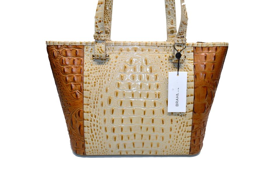 Koubba Asher Croco Champagne Tote Leather Medium Brahmin q1wTI0