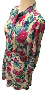 Other Pussybow Necktie Floral Pink Tunic