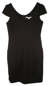 Amanda Uprichard Little Black Ponte Knit Fitted Bodycon Dress