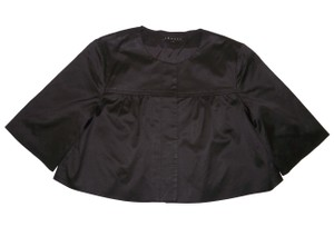 Theory Bolero Shrug Cropped Sateen Jacket