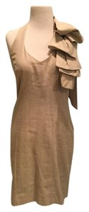Judith March short dress Khaki Halter Bow on Tradesy