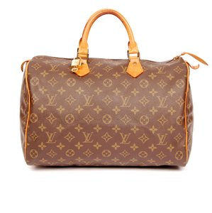 Louis Vuitton Monogram Speedy Tote in Brown