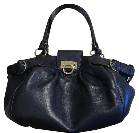 Preload https://item4.tradesy.com/images/salvatore-ferragamo-blue-leather-satchel-19571878-0-1.jpg?width=440&height=440