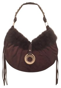 Laundry by Shelli Segal Shoulder Suede Leather Hobo Bag