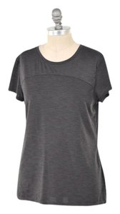 Athleta Lightweight Breathable Yoga T Shirt Gray