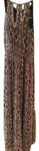 Brown/white Maxi Dress by Greylin Maxi Beaded Small