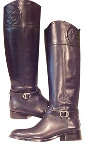 Tory Burch Riding Equestrian Black Boots