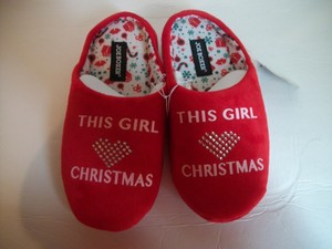 Joe Boxer Christmas Slippers Slippers House House Winter Slippers Red Flats