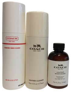 Coach COACH Leather Moisturizer, Leather Cleaner, and Fabric Cleaner Set
