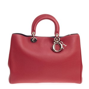 Dior Leather Tote in Red