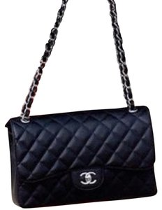Chanel Metallic Hardware Lambskin Single Flap Triple Center Silk Lining Shoulder Bag