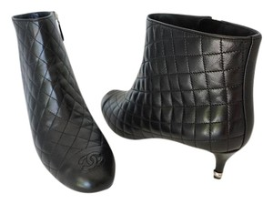 Chanel Quilted Black Boots