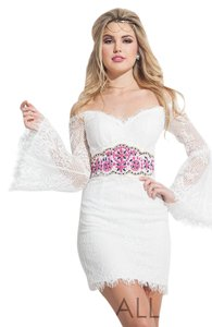 Rachel Allan Casual Cocktail Homecoming Lace Dress