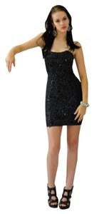 Jovani Lace Bandage Strapless Dress