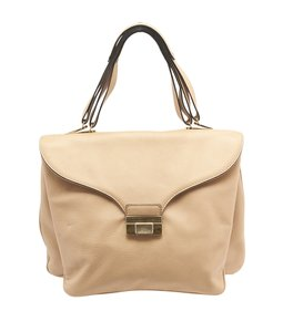 Valentino 3 Compartments Satchel in Beige