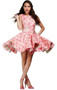 Jovani Floral Fit And Flare Homecoming Dress