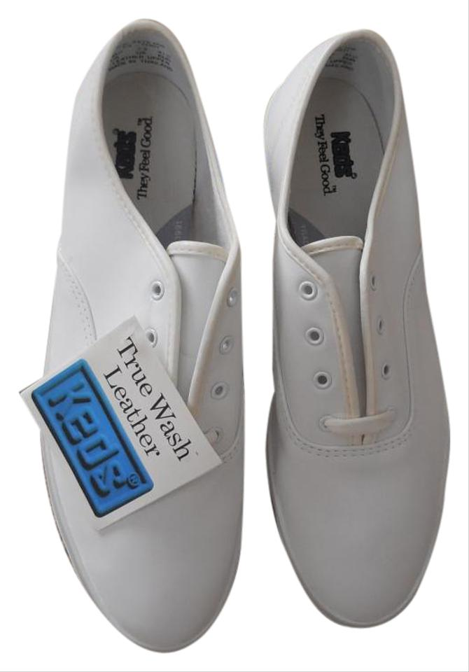 a852300feaf Keds Leather Vintage New With Tags Washable Leather White Athletic Image 0  ...