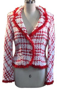 Escada Red white Blazer