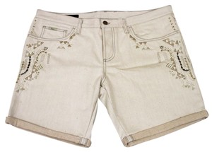 Gucci Men's Embroide Casual Shorts Beige
