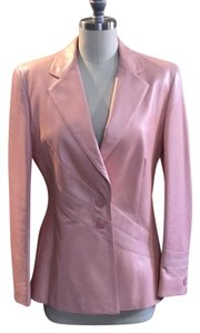 Escada Pink Leather Jacket