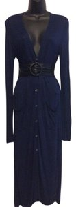 Navy Blue Maxi Dress by Halston