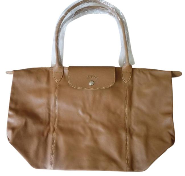 Item - Le Pliage Cuir Nwot Large Made In France Dustbag Natural Brown Lambskin Leather Tote