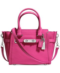 Coach 37444 Swagger 21 Satchel in Dahlia Pink