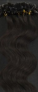 50 Grams 100s Darkest Brown U Tip Fusion Hair Extensions Body Wavy