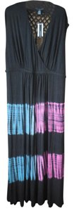 Black Maxi Dress by Grace Elements Plus-size Tie Dye Maxi Crochet Surplice Style