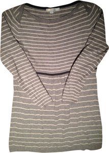Boden short dress Grey/cream Stripe on Tradesy