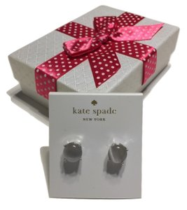 Kate Spade Kate Spade New York Stud Earrings with Bagity Gift Box Pearly Grey