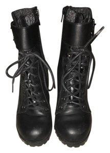 ALDO Lace Up Black with gray ankle Boots