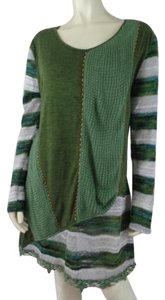 Sacred Threads Patchwork Boho Long Pullover Sweater
