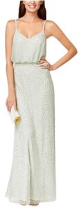 Adrianna Papell Beaded Sequin Gown Dress