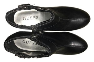 Guess Ankle Platform High Heel Plain Black Boots