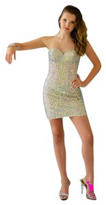 Jovani Homecoming Sparkle Strapless Jeweled Dress