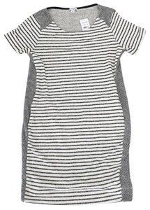Splendid short dress Cream and Black Cotton Striped on Tradesy