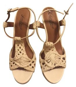 Lucky Brand Crochet Wedge Cream Wedges