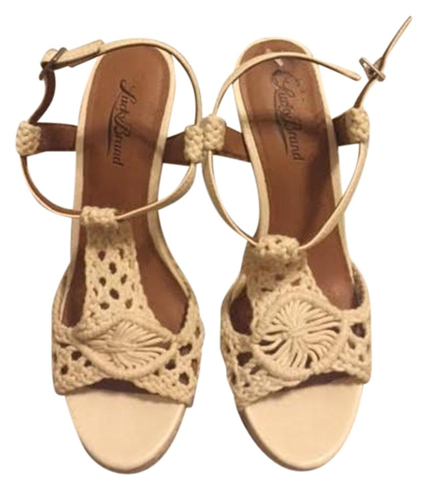 d57f9e409f1 Lucky Brand Cream Crocheted Wedges Size US 7.5 - Tradesy