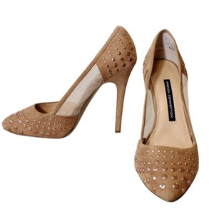 French Connection Suede Date Night Night Out Tan Pumps