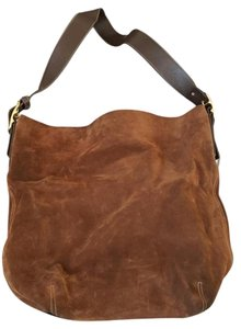 Coach Suede Brown Bucket Adjustable Straps Leather Shoulder Bag