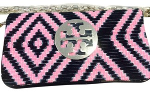 Tory Burch Rare. Navy & Pink Clutch