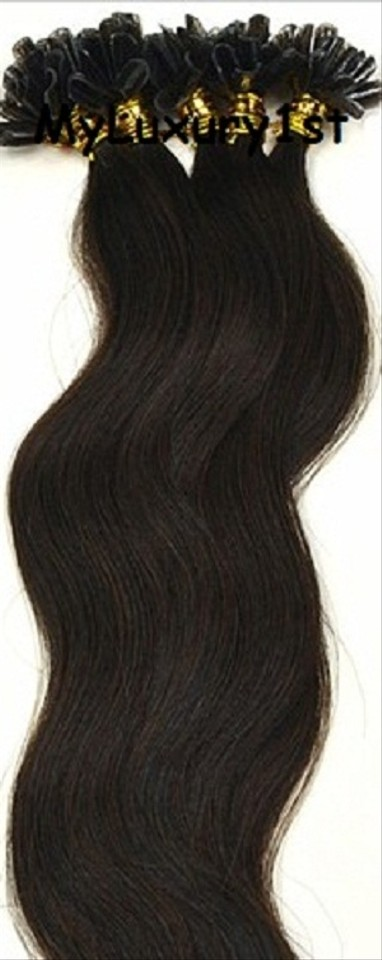 Myluxury1st Chocolate Brown U Tip Fusion Hair Extensions Body Wave