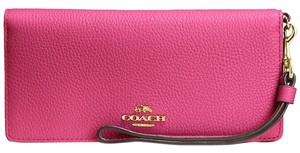 Coach 53759 Slim Colorblock in Polished Pebble Leather WALLET Wrislet