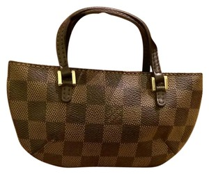 Louis Vuitton Pouch Damier Accessory Mini Wristlet in Damier brown
