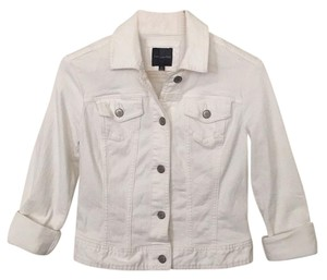 The Limited White Womens Jean Jacket