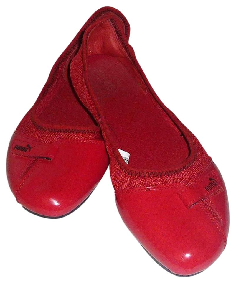 eba93e5f7b Puma Red Women's Patent Leather Ballerina Flats Size US 9.5 Wide (C ...