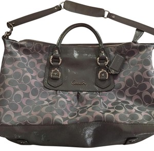 Coach Tote in Grey And Pink